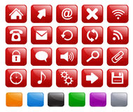 Square icons. Colorful set of square icons Stock Photos