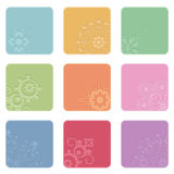 Square icons Stock Images