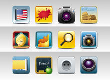 Square icons stock illustration