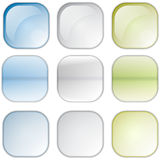 Square icons Stock Image