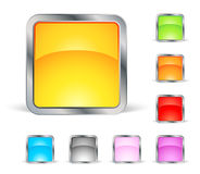 Square icons. Set of colored square icons royalty free illustration