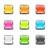 Square icons. Set of nine square icons Royalty Free Stock Images