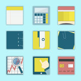 Square icons of business Stock Photo