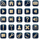 Square Icons Button Set Stock Photography