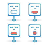 Square icons emoticons Stock Photo