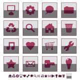 Square icons set 1 Stock Photo