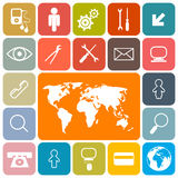 Square Icons Set Stock Photography
