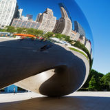 Square image of Cloud Gate in Chicago Royalty Free Stock Photos