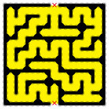 Square impenetrable maze Royalty Free Stock Image