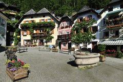 Square In Hallstatt Royalty Free Stock Photos
