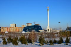 Square of Independence in Astana / Kazakhstan Stock Photo