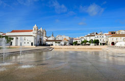 Square Infante Dom Henrique  at Lagos, Algarve, Portugal Royalty Free Stock Images