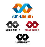 Square infinity royalty free illustration