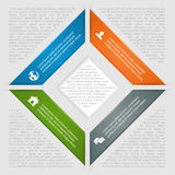 Square infographic with icons Royalty Free Stock Photos