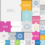 Square infographic Stock Images