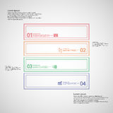 Square infographic template divided to four parts from double outlines Royalty Free Stock Photo