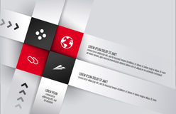 Square infographics background design Royalty Free Stock Images