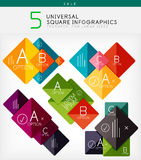 Square infographics, option banners collection Royalty Free Stock Photos