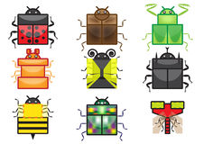 Square insect icon collection royalty free stock images