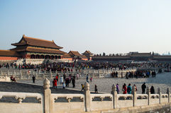 Square inside the Forbidden City during the Chinese New Year, Beijing, China Stock Image