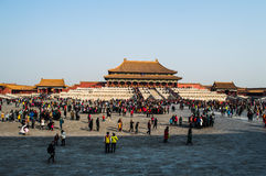 Square inside the Forbidden City during the Chinese New Year, Beijing, China Royalty Free Stock Images