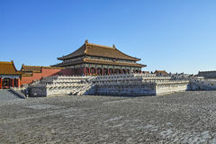The square inside Forbidden City Stock Photos