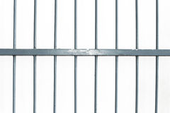 Square iron cage isolate on white background Royalty Free Stock Images