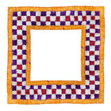 Square Isolated Textile Border Stock Image