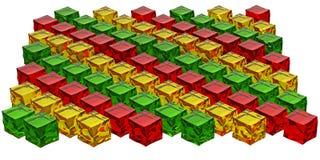 Square jellies Stock Photography