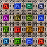Square Jewel Color Pattern Stock Image