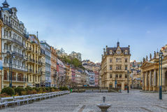 Square in Karlovy Vary, Czech republic Stock Images