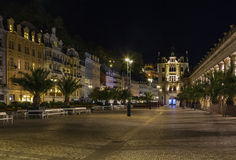 Square in Karlovy Vary, Czech republic Royalty Free Stock Photos