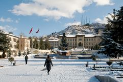Square in Kastamonu - Turkey Royalty Free Stock Photo