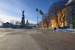 Square in Kharkov. Ukraine. View of square in Kharkov. Ukraine royalty free stock image