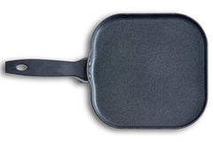 Square kitchen skillet with chamfered corners Royalty Free Stock Photos