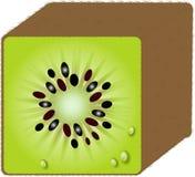 Square Kiwi fruit Stock Photo