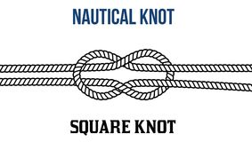 Square knot on white background Stock Image