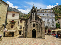 Square in Kotor Royalty Free Stock Photography