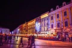 Square krakow royalty free stock photos