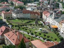 Square in Kremnica Royalty Free Stock Photo