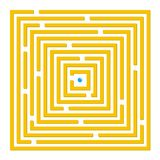 Square labyrinth Stock Photo