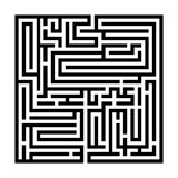 Square labyrinth, Maze for kids, Children riddle game, puzzle with an entry and an exit. royalty free illustration