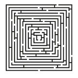 Square labyrinth puzzle Royalty Free Stock Photo