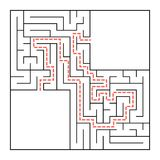 A square labyrinth. Simple flat vector illustration isolated on white background. With a place for your image.  Stock Photos