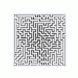Square labyrinth Royalty Free Stock Photo