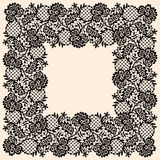 Square Lace Frame. Stock Image