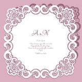 Square Lace Frame Stock Photo
