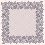 Square Lace Frame. Stock Photo
