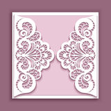 Square lace wedding card Stock Photos
