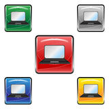 Square laptop buttons Royalty Free Stock Images